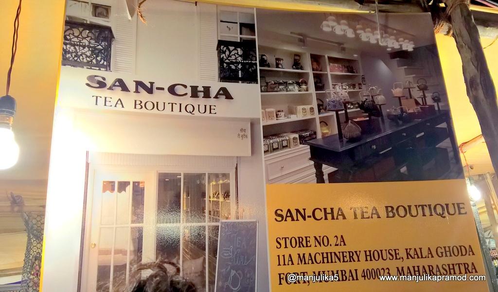 San-cha Tea boutique, tea lovers, Travel blogger, Mumbai