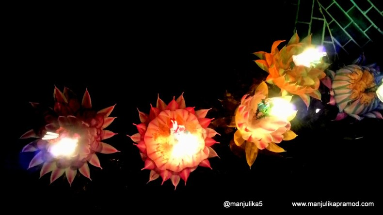 Loi Krathong entails sending candles and floating ornaments out onto rivers,