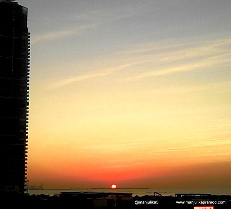 Sunset at the Beach, Dubai