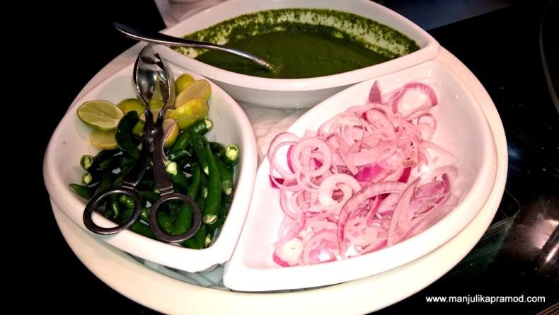 The Indian way- Chutney, Onions, Chillis and Lemon, NYC