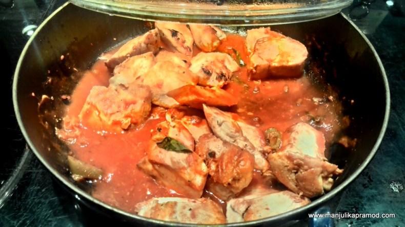 Peri Peri Chicken with tomato Onion and Jalapeno Chilli