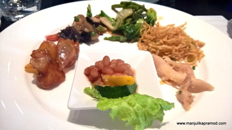 Pok Choi, Noodles, Fish, Fried Rice