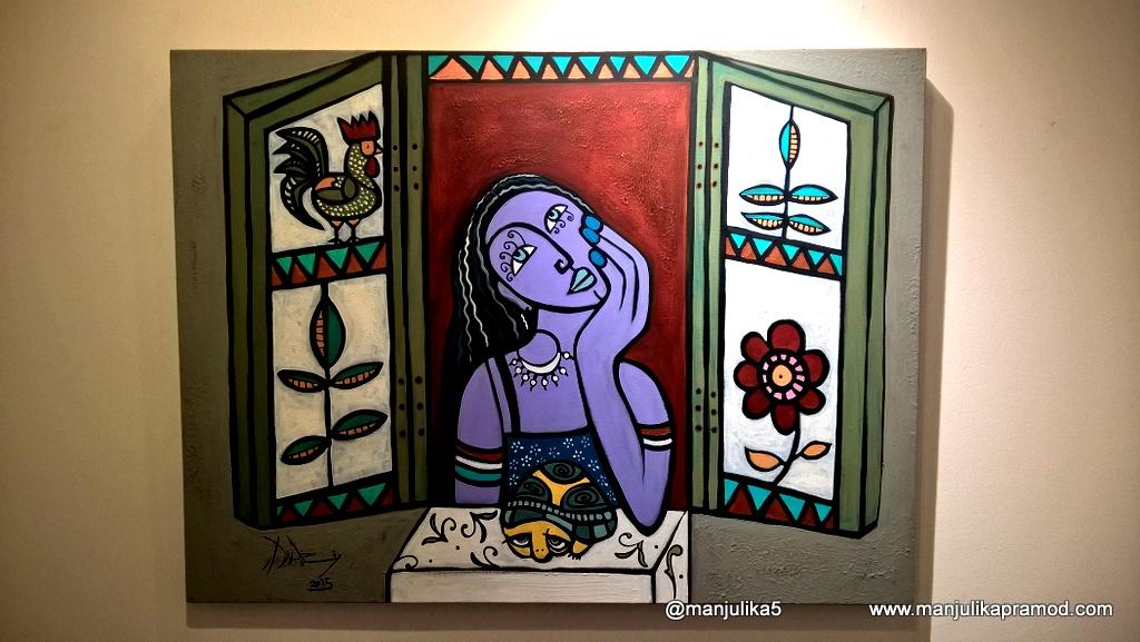 Painting at Heritage House, Bastakiya