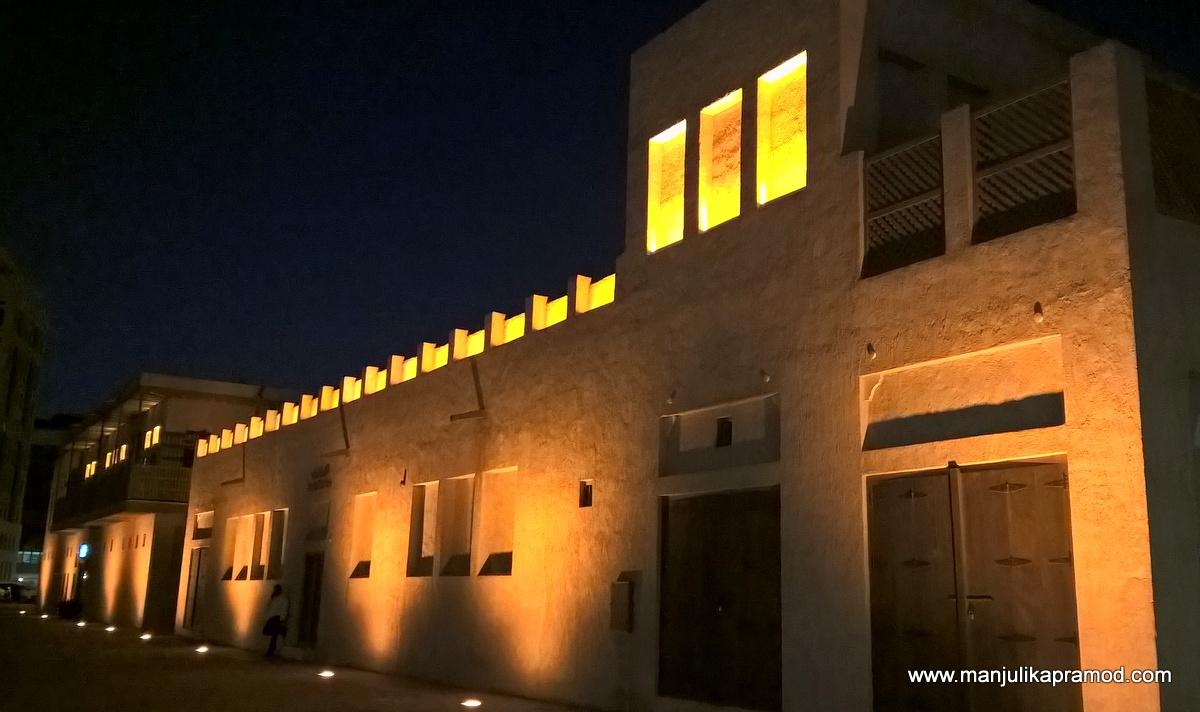 Buildings glowed in the dark