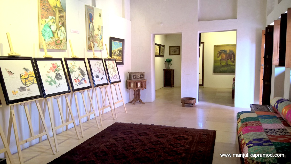 His house is converted in an art gallery