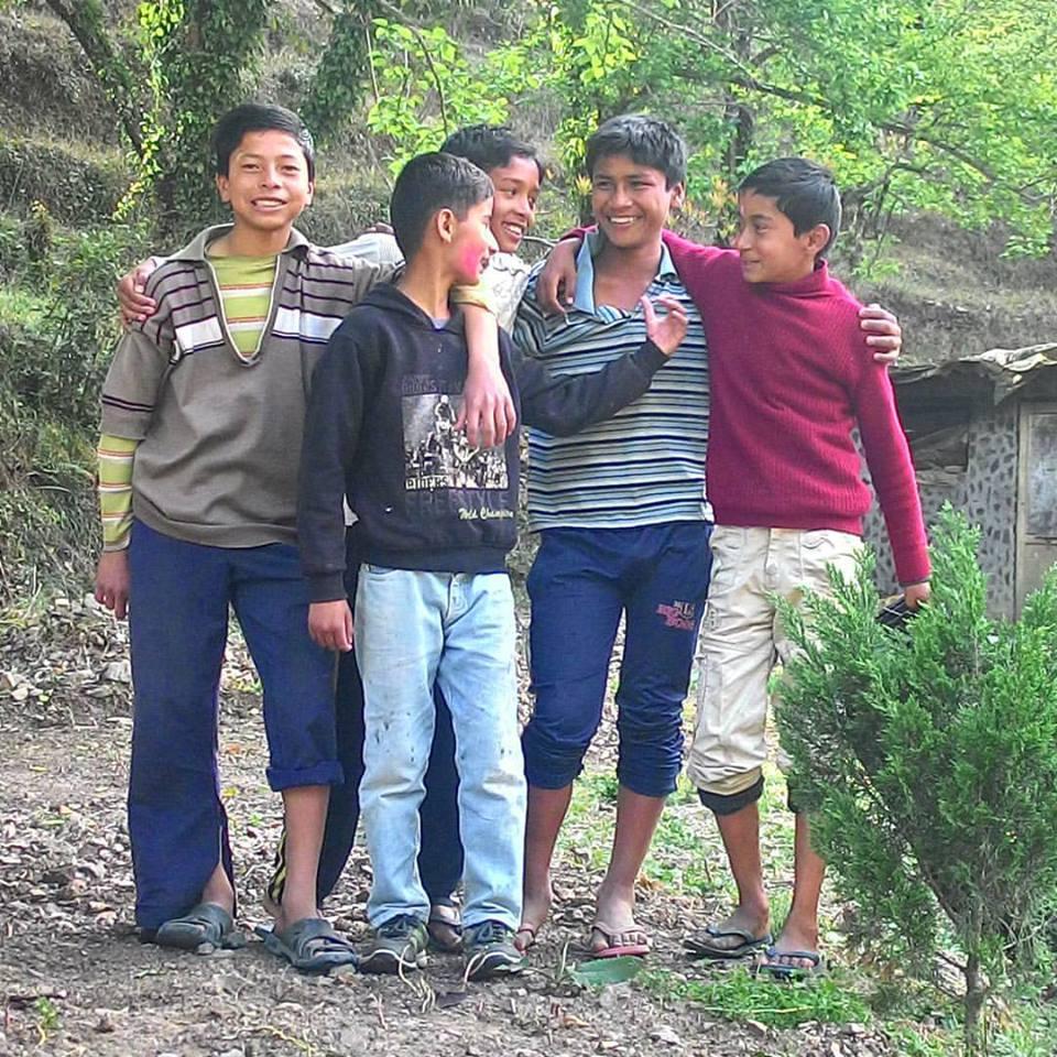 Children, Holi, Bhimtal