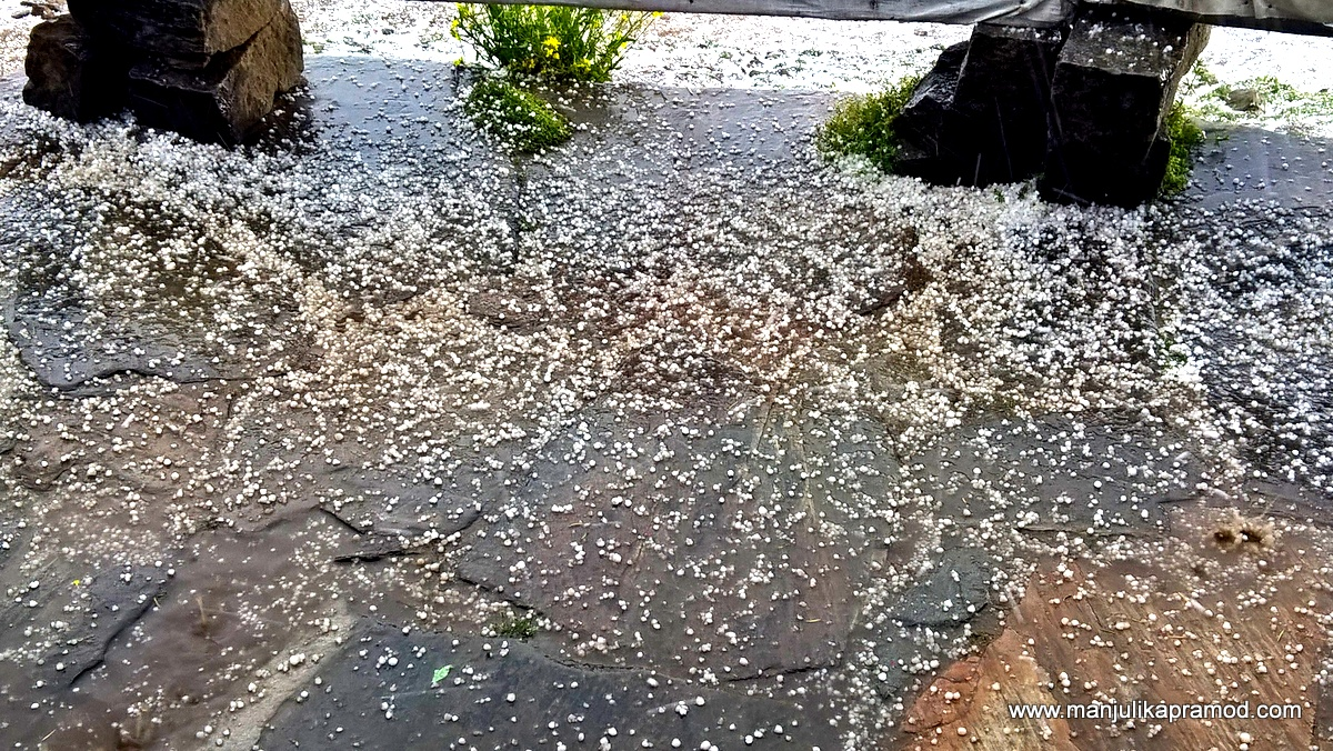 When the hail storm came calling
