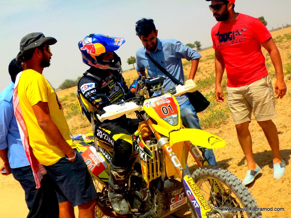 CS Santosh, Desert Storm Rally , Car, Bikes