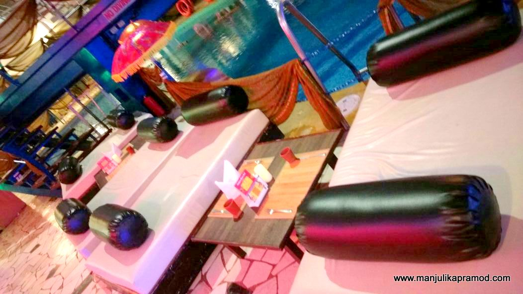 Seating arrangement at Poolside