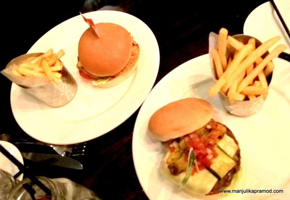 Choices of Veg and Non-Veg Burgers, World Burger Tour, Hard Rock Cafe