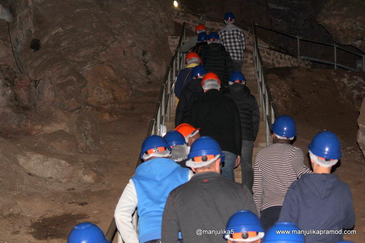 Cave walking at Sterkfontein