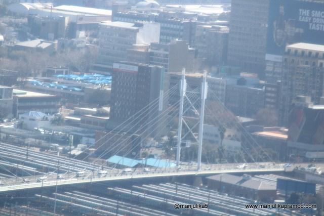 Nelson Mandela Bridge as seen from carlton city center