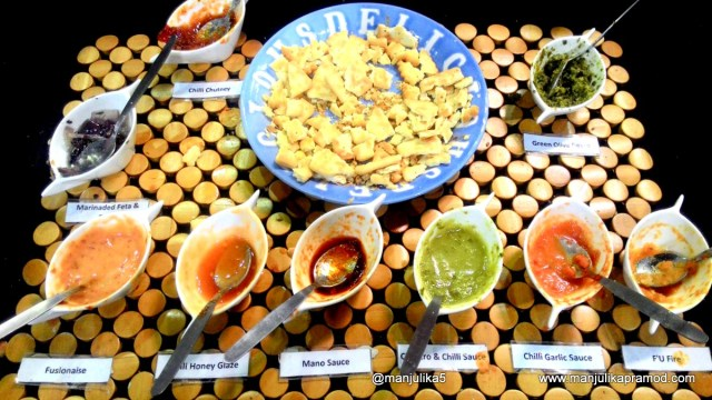 The varieties of chilly pastes and sauces are amazing