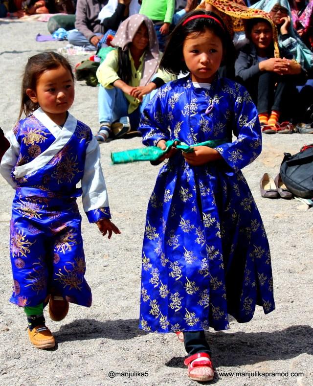 Little Girls, Local Dress