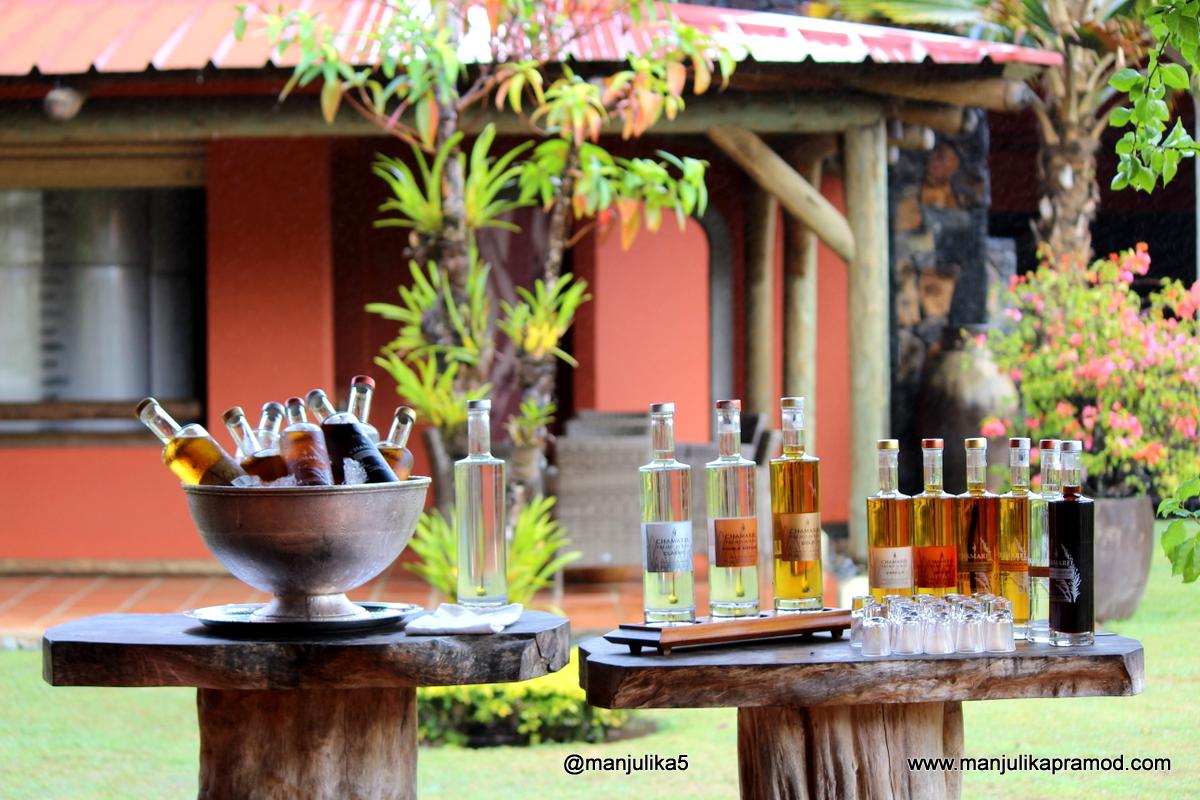 Tasting rum in Mauritius