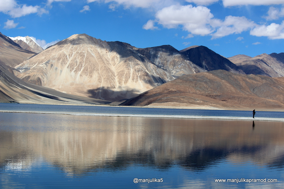 Pangong Lake and its enigma in Leh, Ladakh