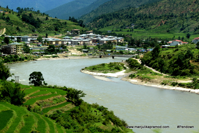 Mo chu river in Bhutan
