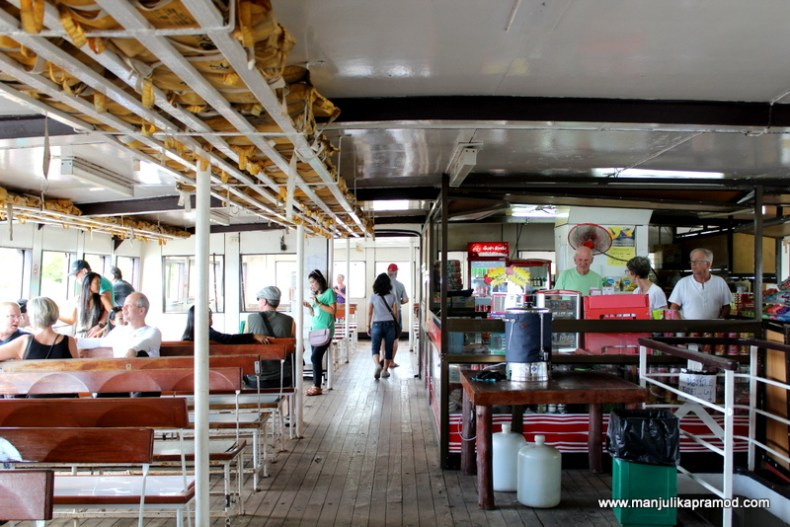 Inside the boat, ferry ride to Koh Chang
