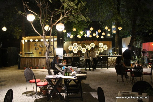 The open dining of Lodi-The garden restaurant