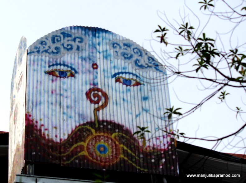 Clicked this on the side of Kathmandu Guest House