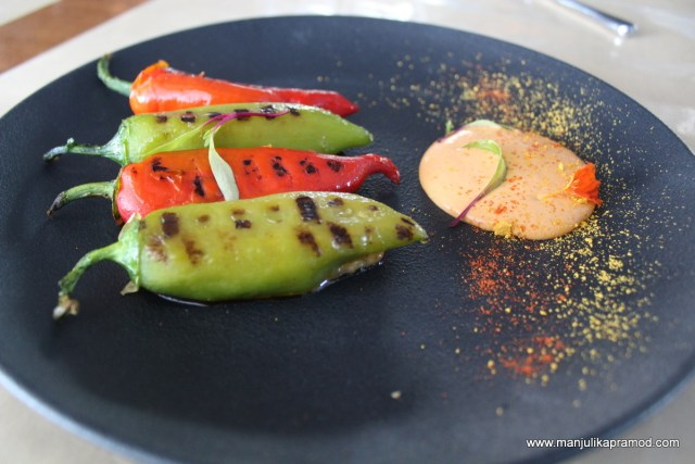 Chilli bellpeppers, Amuse House