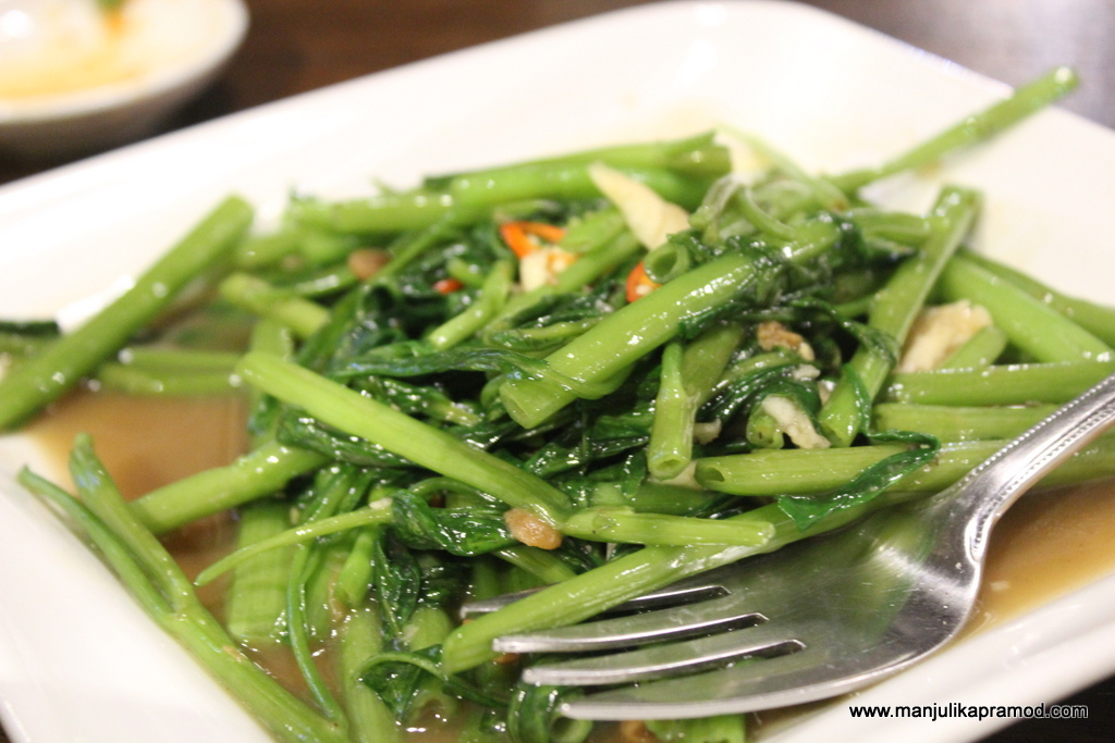 Morning glory salad is Thai food