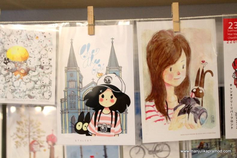 Art and postcard shop in Chanthaburi