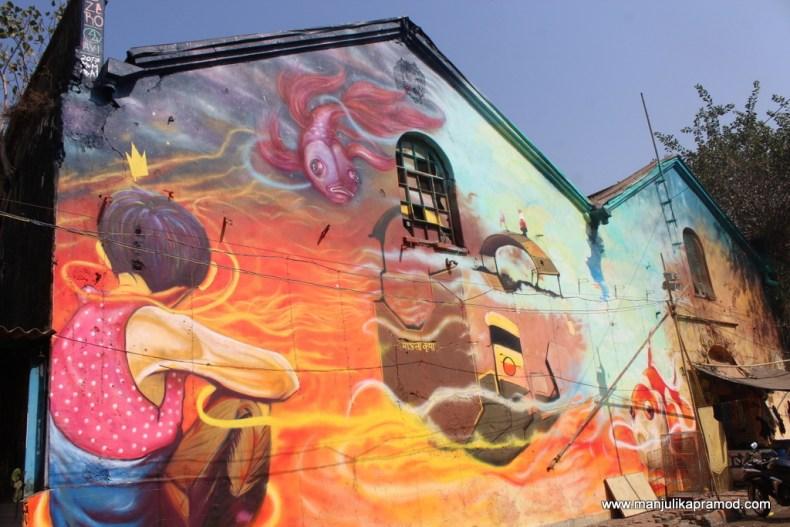 Wall art, Mumbai, Pendown