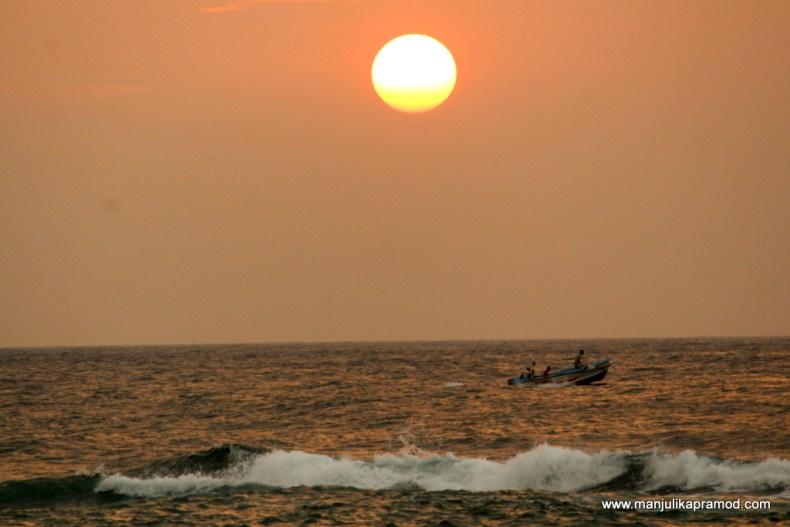 Sunset in Sri Lanka