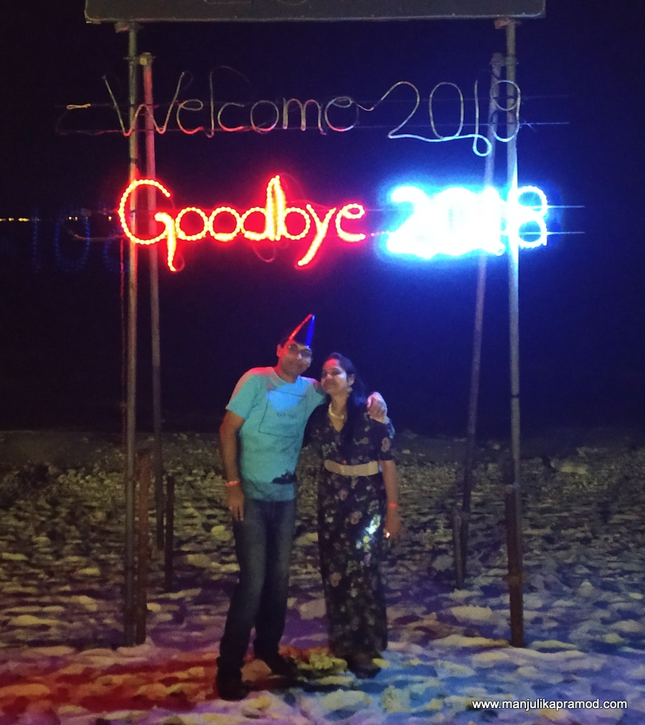 Hubby and I celebrated our New Year eve in Maldives in style