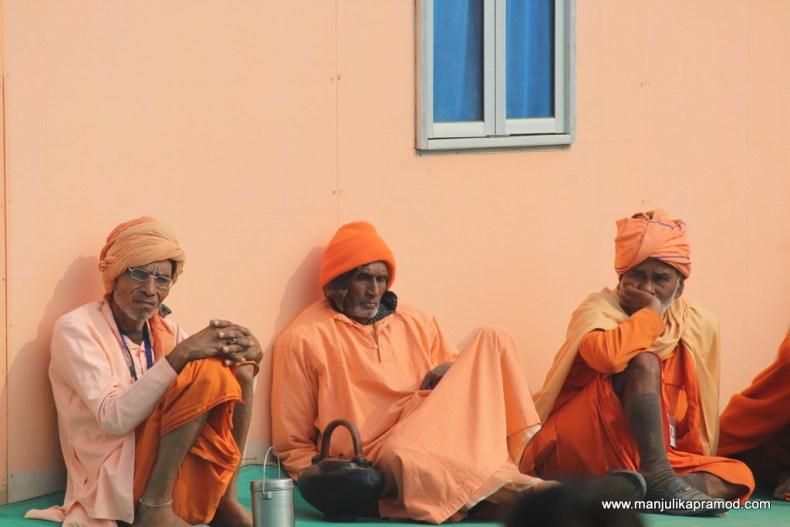 Pictures of 3 sadhus
