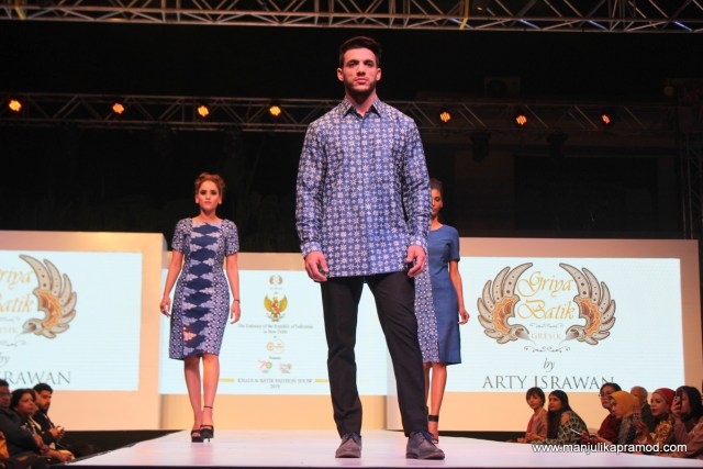 Some of the Batik creations presented by Indonesian fashion designer,   Arty Israwan
