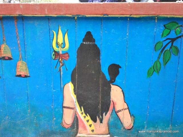 Shiva wall art in Varanasi