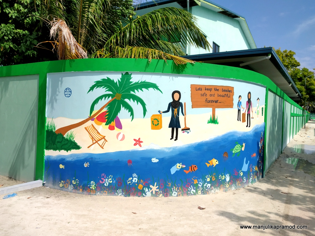Maafushi Island and its school.