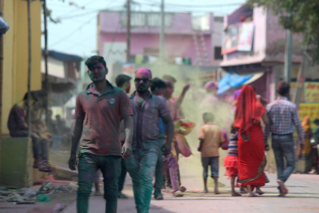 Celebrating Holi on the streets of Govardhan