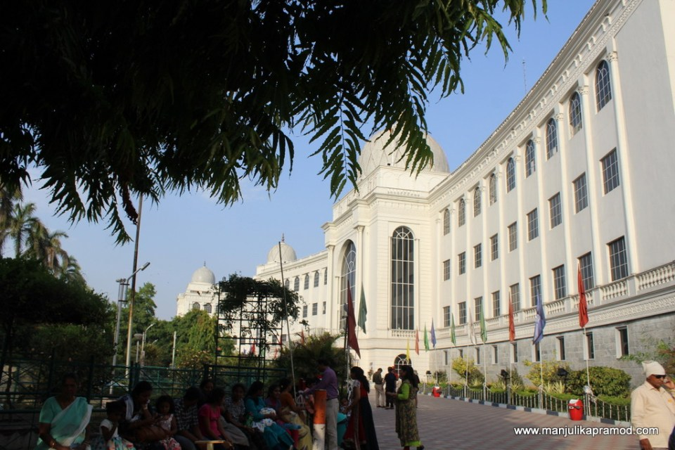 This is how Salarjung museum looks from outside.