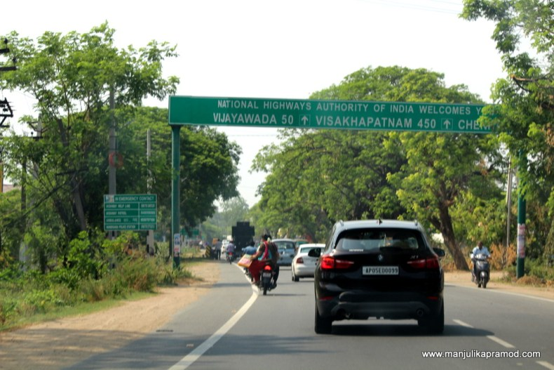 Road trip between Hyderabad and Vijayawada