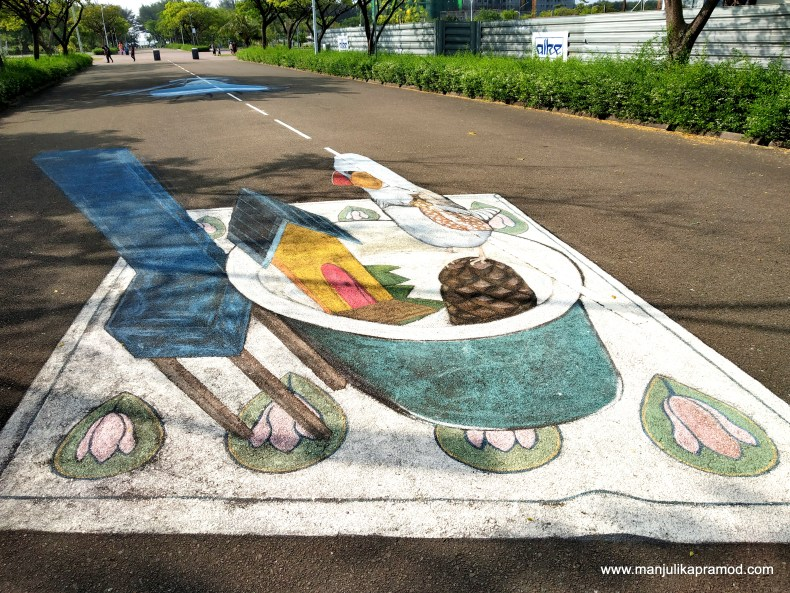 Road art in Maldives