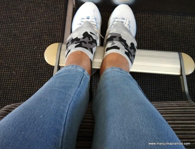 Leg room in business class.