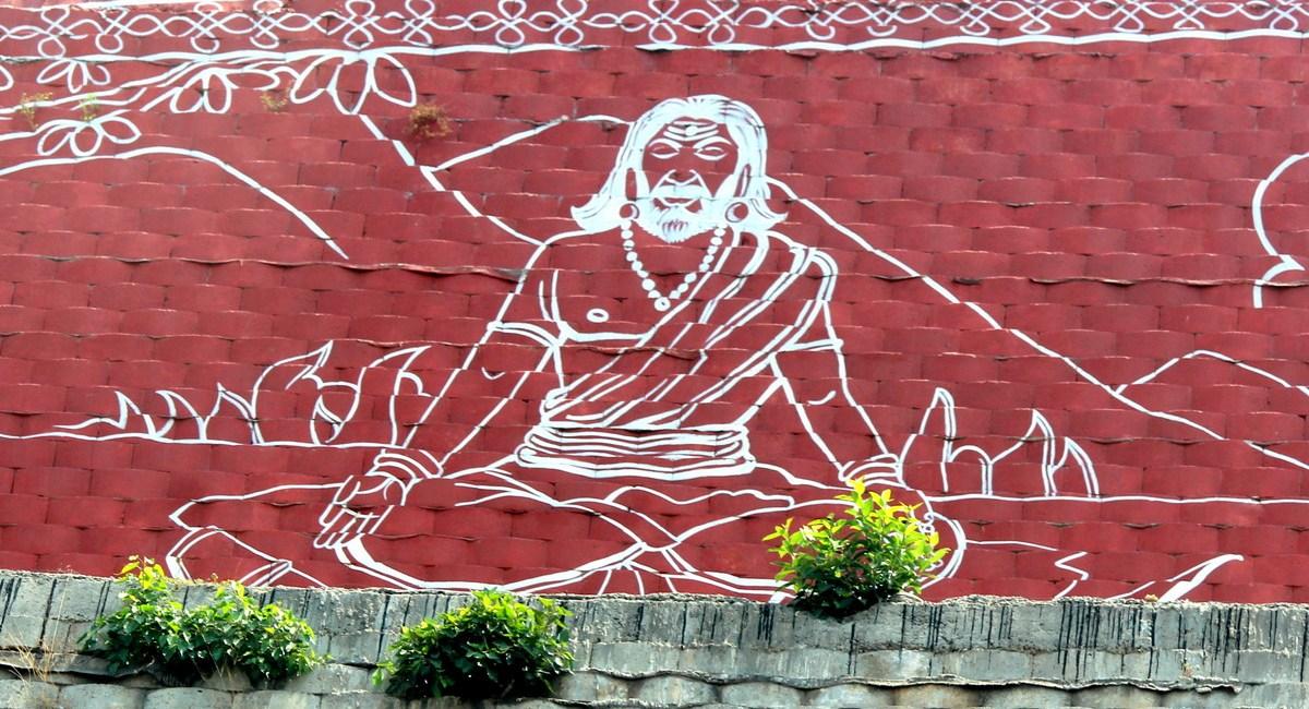 Amazing street art work in Vijayawada