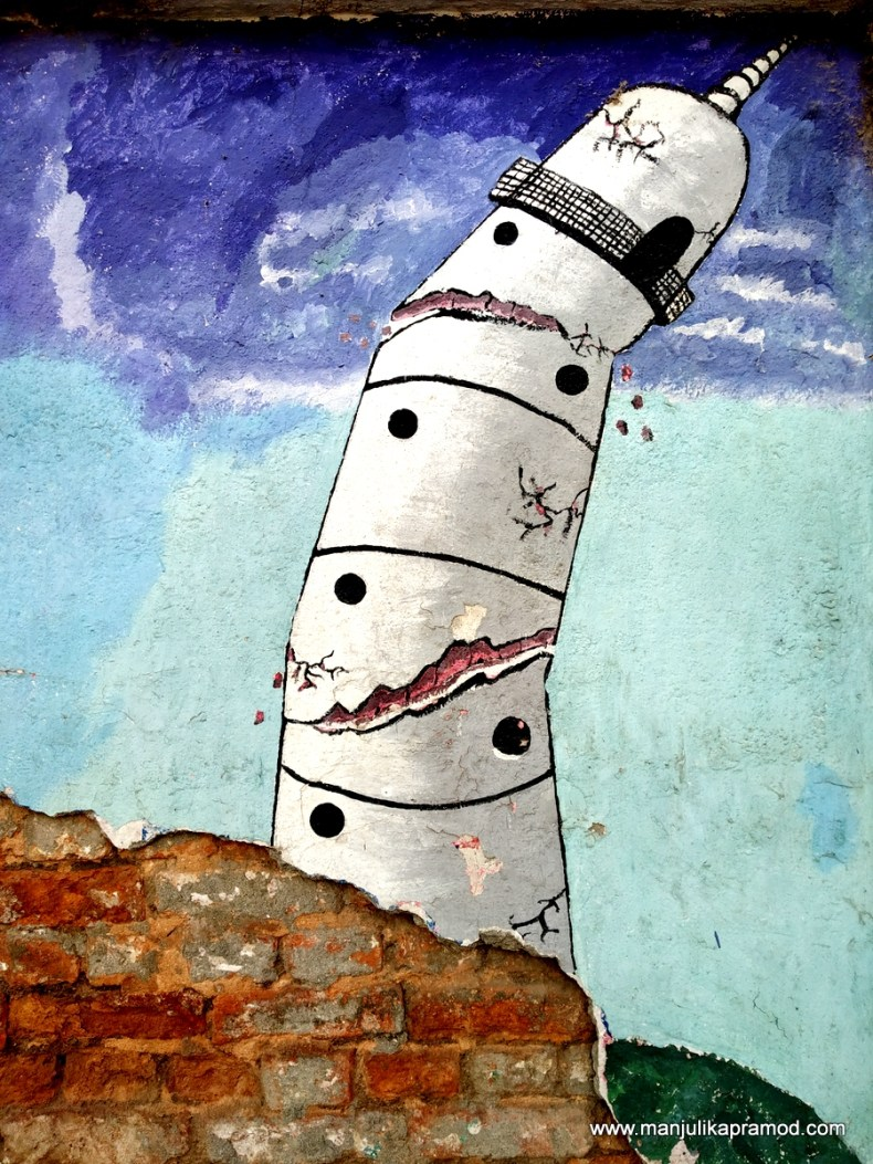 #Dharhara #minaret #Nepal #Kathmandu #Streetart #Kathmandu #Earthquake