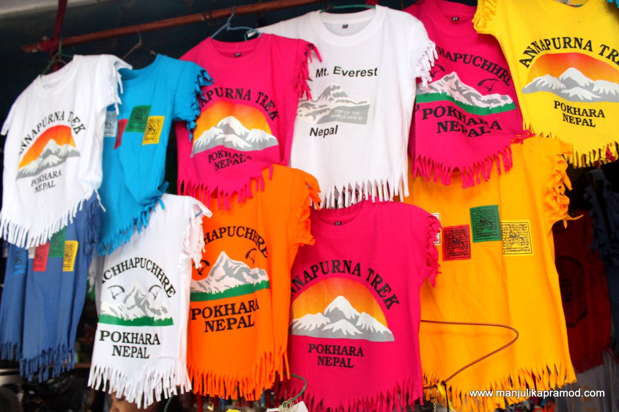 T-shirts with Mount Everest and Annapurna trek written on them,  #Nepal #Himalayas #Travel