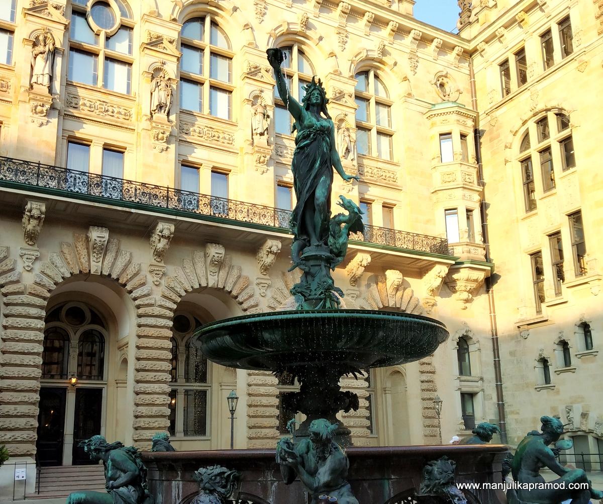Rathaus - The city hall of Hamburg