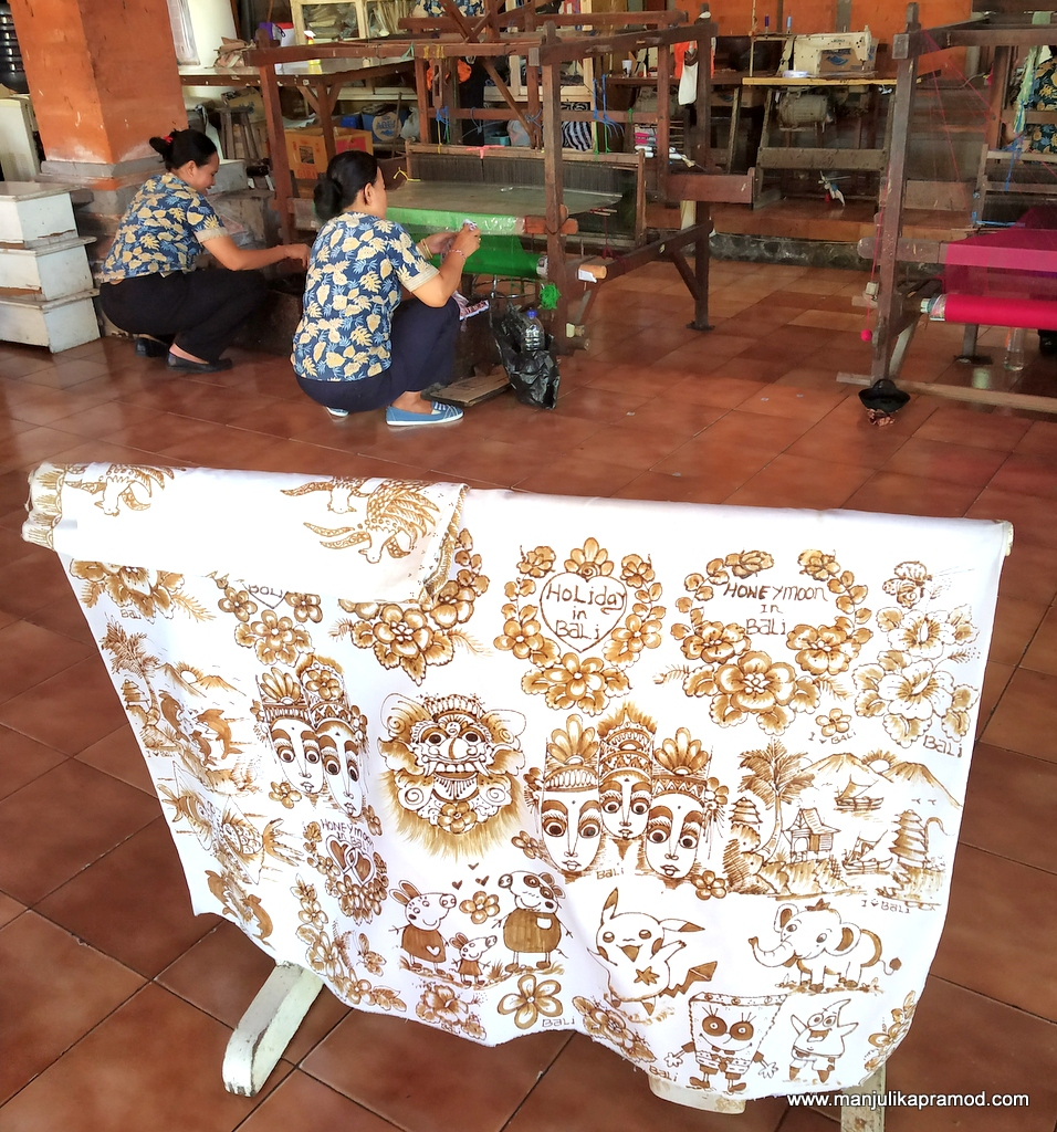 Woman doing Batik work in Bali