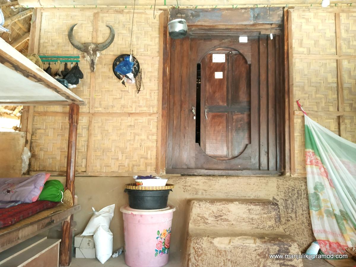 Inside of a Sasak house