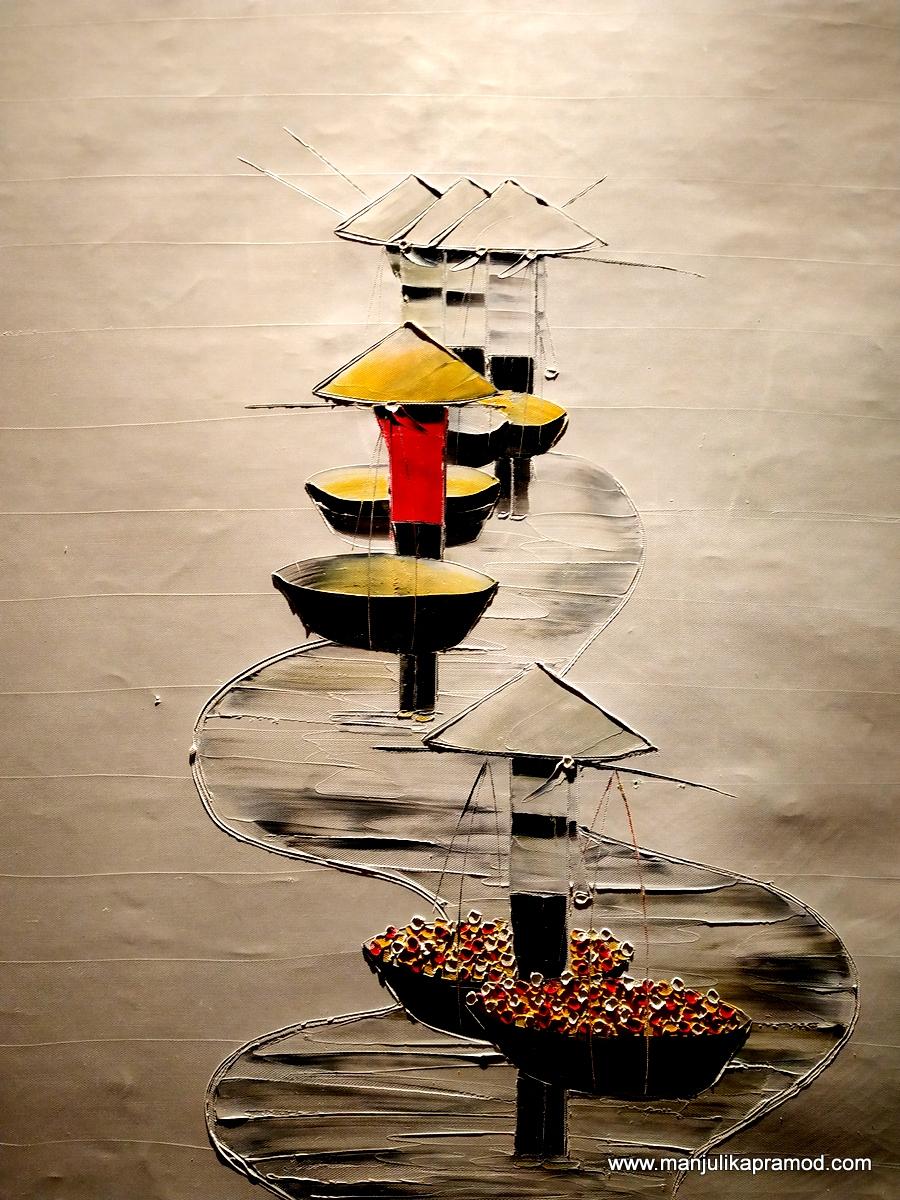 Vietnamese trail -Paintings - Honk by Pullman