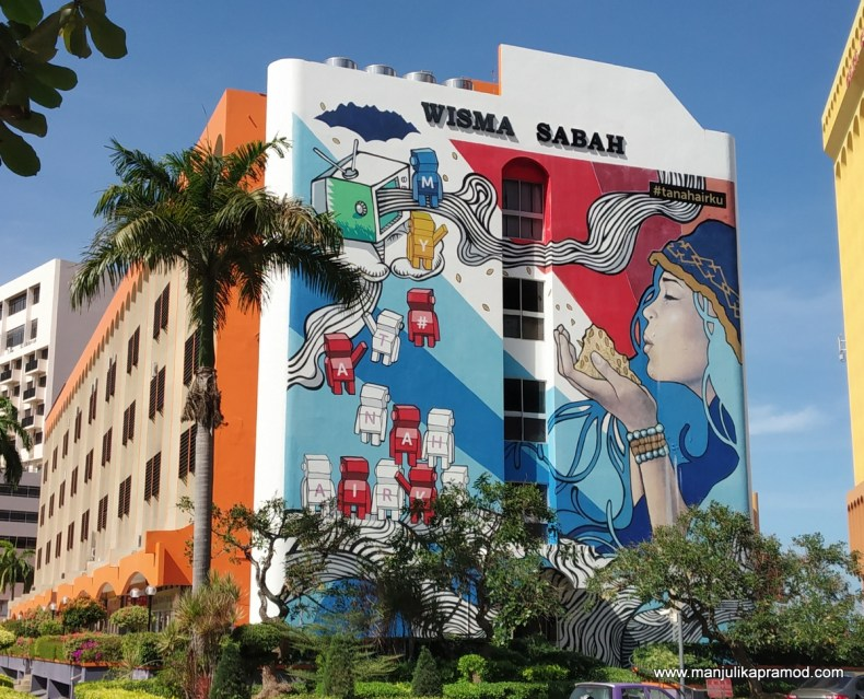 Street art trail in Kota Kinabalu