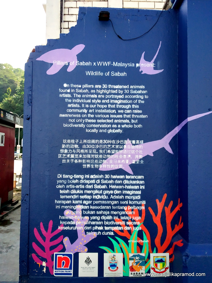 30 threatened animals found in Sabah are portrayed here.