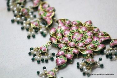 Necklace -Gulaabi Meenakari