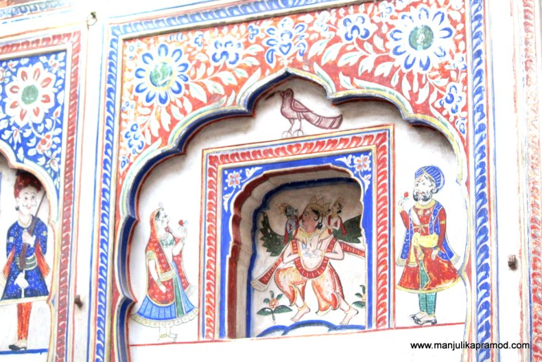 Such gorgeous wall paintings of Shekhawati
